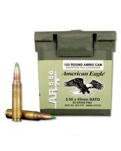 Federal American Eagle XM855 5.56 Green Tip Ammo - 120 Rounds