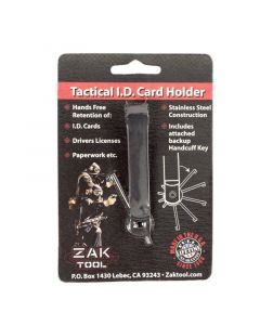 Zak Tool Tactical ID Card Holder with Handcuff Key