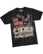 """""""Gun Control"""" T-Shirt - Front"""