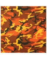 Colored Camo Bandana - Savage Orange Camo