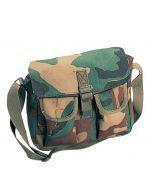 Canvas Ammo Shoulder Bag - Woodland Camo