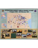 US Army Desert Storm Battle Map