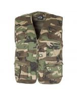 Mil-Tec Fishing Vest - Woodland Camouflage