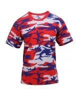 Red White and Blue Camo Shirt