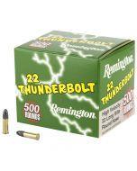 Remington .22 LR Thunderbolt Ammo – 500 Rounds of High-Velocity 40gr Ammunition