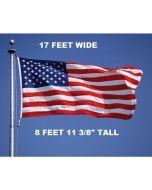 US Army Base Flag - Flying on Pole