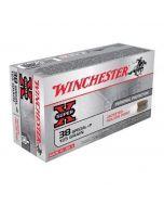 Winchester .38 Special +P Ammunition – 50 Rounds of 125 gr JHP Ammunition