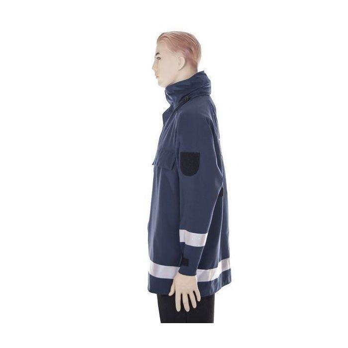 Blue French Military Police Wet Weather Waterproof Jacket High Viz Coat