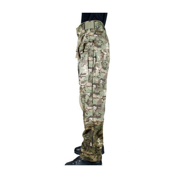 Trousers Softshell Army Mil-tec Mil-Tec Waterproof with Pockets Softair BK