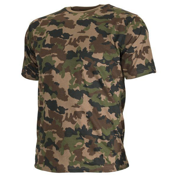 53cb3bbb Swiss Army Woodland Camouflage T-Shirt   Keep Shooting
